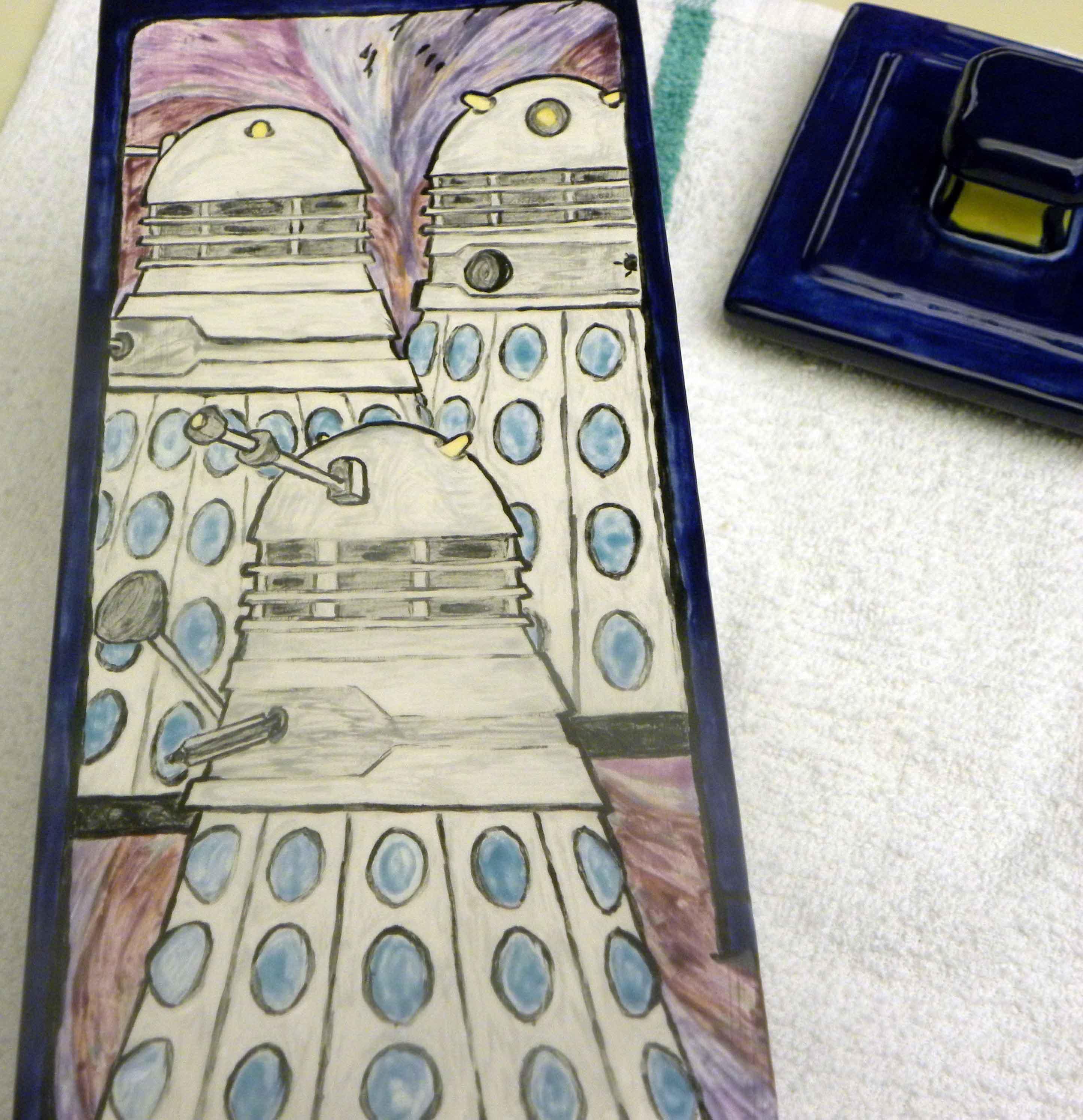 Dalek mural close up